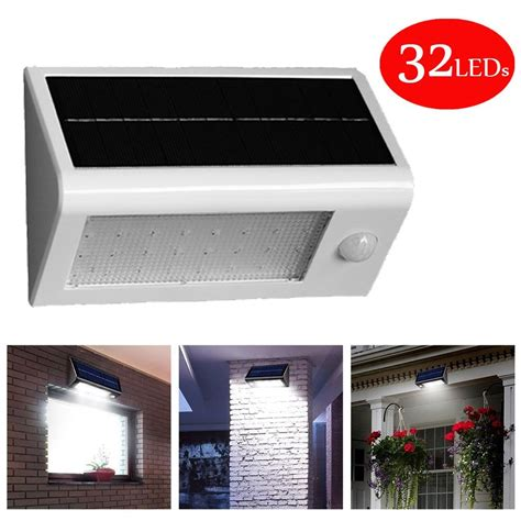 solar outdoor motion lights solar powered outdoor motion sensor security 32 led lights