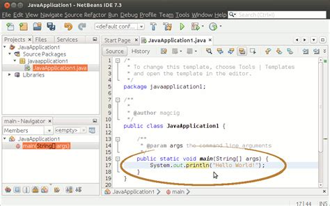 tutorial java on linux netbeans 7 x ide java getting started hello world project