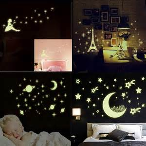 Glow In The Dark Home Decor by Luminous Wall Sticker Home Decor Glow In The Dark Star