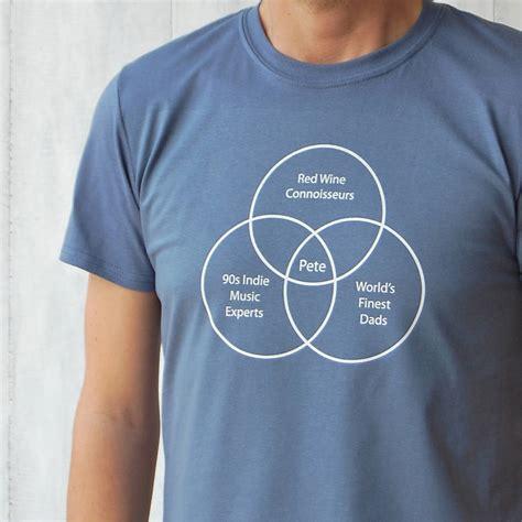 venn diagram t shirt personalised venn diagram t shirt by invisible friend notonthehighstreet