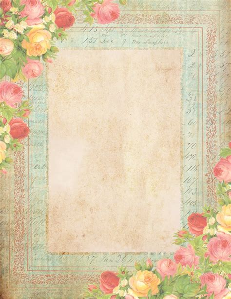 printable vintage stationery roses summer sky free printable stationery graphics