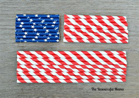 How To Make A Paper Flag - patriotic paper straw flag the resourceful