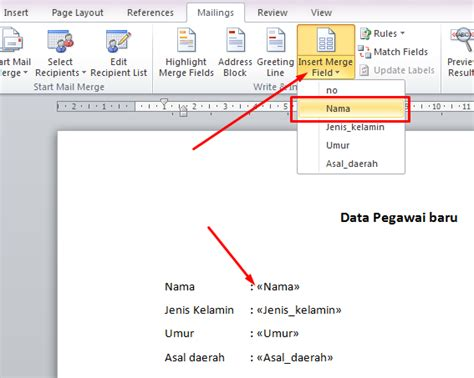membuat mail merge untuk surat cara membuat mail merge atau surat masal di microsoft word