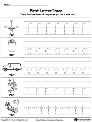 Lowercase Letter Worksheets Trace by Lowercase Letter Tracing An Words Myteachingstation