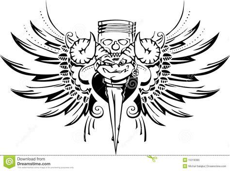 motociclista do tatuagem foto de stock imagem 15318380