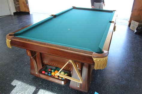 pool table refelting black pockets and black felt dk
