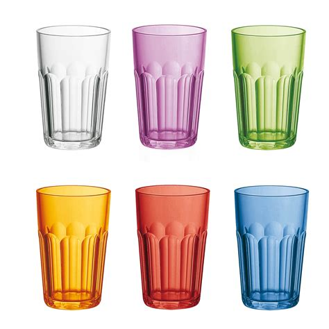 bicchieri guzzini set 6 bicchieri molati alti 07230652 fratelli guzzini
