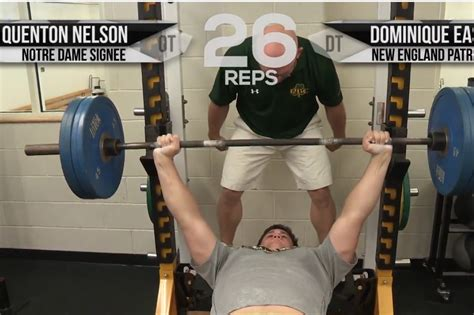 quenton nelson bench press 2014 notre dame recruit quenton nelson out benches top nfl