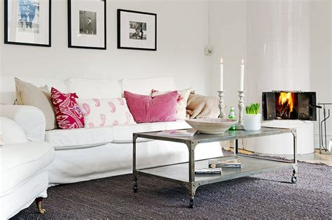 Pink Sofa Living Room Simple Pink Sofa Pillows For Living Room 2686 Decoration Ideas