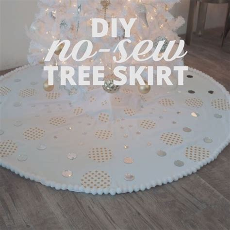 diy no sew tree skirt simple handmade