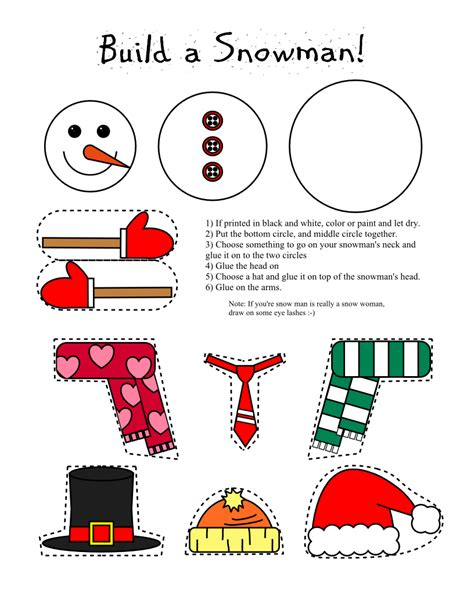 printable crafts smarty pants fun printables printable snowman and snow