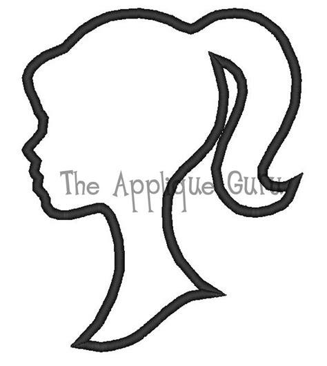 barbie logo coloring pages barbie silhouette applique machine embroidery by appliqueguru