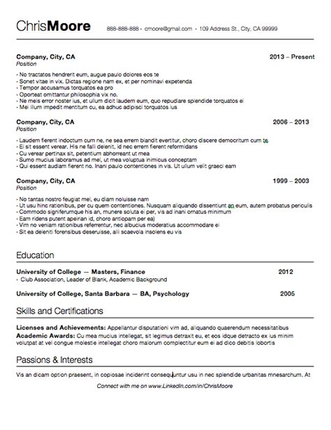Resume After One Write A Last Minute Resume By Sticking To These 3 Aftercollege