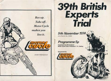 design expert 7 trial 1974 the 39th british experts trial www retrotrials com