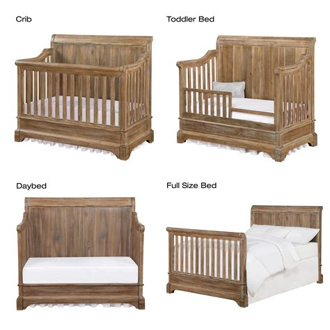 Bertini Pembrooke 4 In 1 Convertible Crib Natural Rustic Wood Convertible Crib