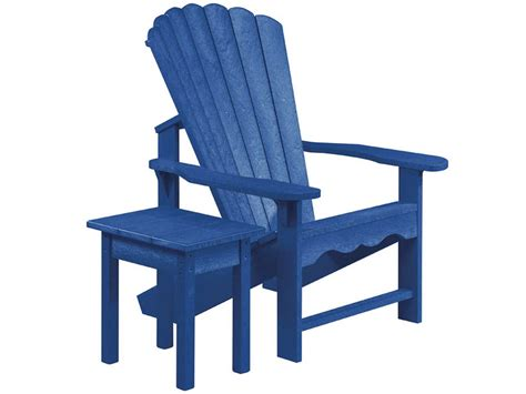 adirondack chair with table c r plastic generation recycled plastic adirondack chair