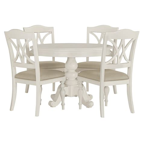 Round Table With 4 Chairs City Furniture Quinn White Round Table Amp 4 Wood Chairs