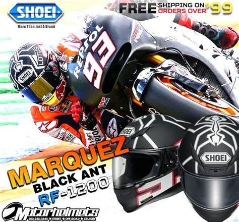 Helm Shoei Rf 1200 Marquez Black Ant Helmet product ad poster dec 2014 shoei marquez black ant rf 1200 helmet motorhelmets library