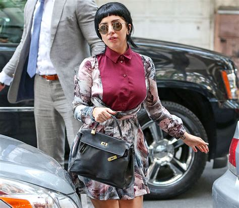 Sling Bag Lagy Gaga gaga carries vintage hermes to s restaurant purseblog