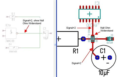 c layout null null ohm widerstand target 3001 pcb design freeware ist