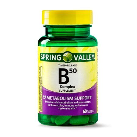 spring valley vitamin b50 complex timed release tablets