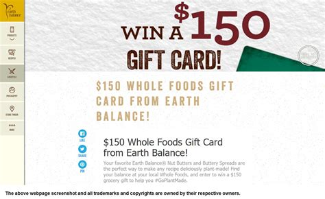 Wholefoods Gift Card Balance - tryfreebies com win 150 whole foods gift card