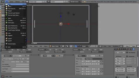 tutorial blender physics blender tutorial making a pong game in ten minutes using