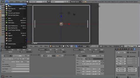 tutorial blender physics blender tutorial making a pong game in ten minutes using