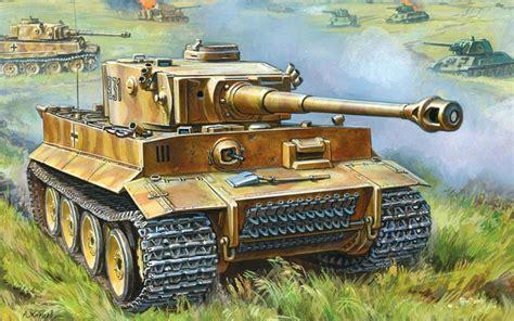 Wood Frame Poster 206 popular tiger tank painting buy cheap tiger tank painting