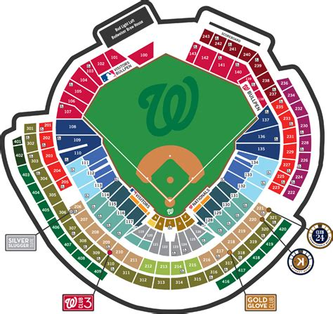 nationals park seating view seating map washington nationals