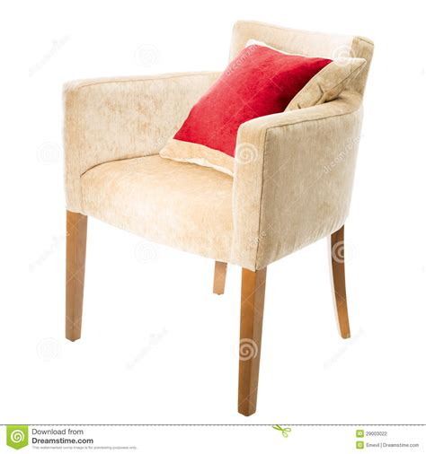 armchair shaped pillow armchair with red pillow stock photography image 29003022