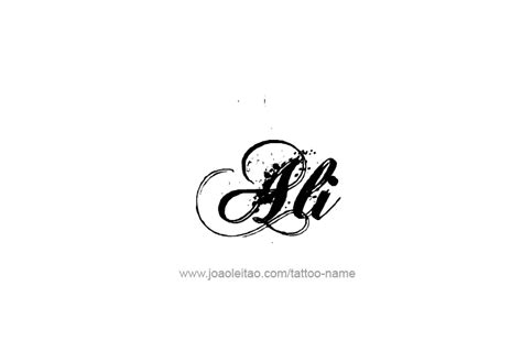 tattoo of ali ali name tattoo designs