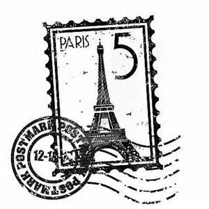 paris stamps scribblings