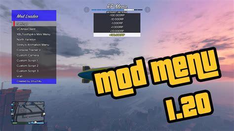 mod gta 5 online 1 20 gta v online mod menu 1 20 1 22 download xbox 360 youtube