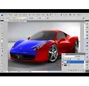 Como Pintar Un Auto Con Photo Shop CS4  YouTube