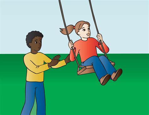 pushing a swing funny stories indonesian red cross sidoarjo
