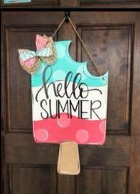 popsicle summer  door hanger crafts diy crafts