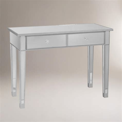 mirror console table mirrored console table world market