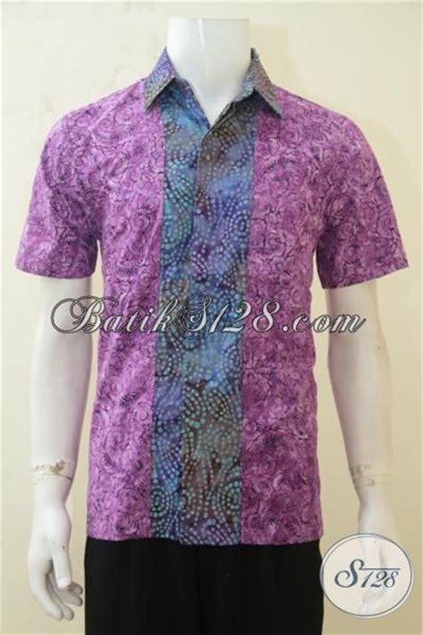 Jaket Pria Kombinasi Jaket Gaul busana batik gaul hem batik ungu kombinasi warna gradasi