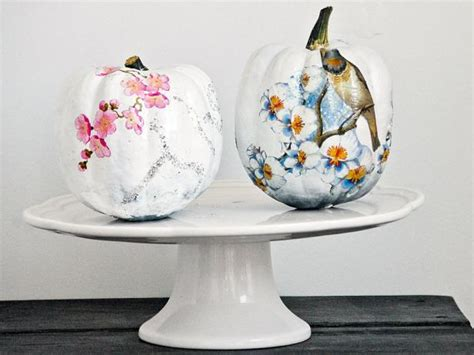 Decoupage Decorating Ideas - funky decoupage pumpkin hgtv