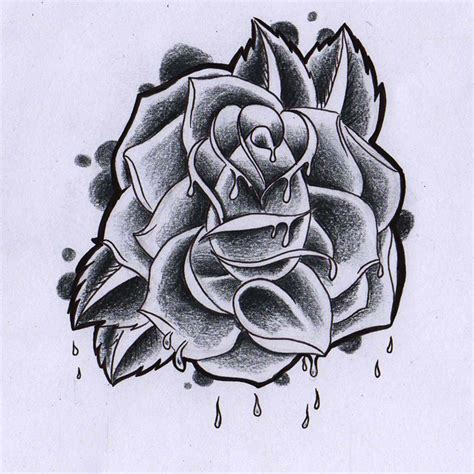 bloody rose tattoo designs by jerome wallace
