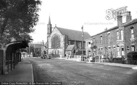 home design store church street manchester hopwood st john s church and manchester road c 1955