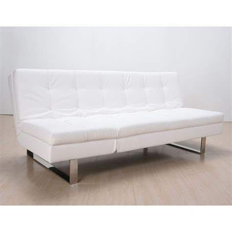 sofa bed white leather modern white leather couchimage