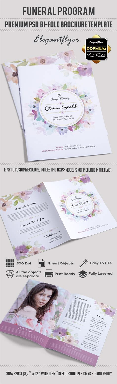 Program For Funeral Template By Elegantflyer Bi Fold Program Template