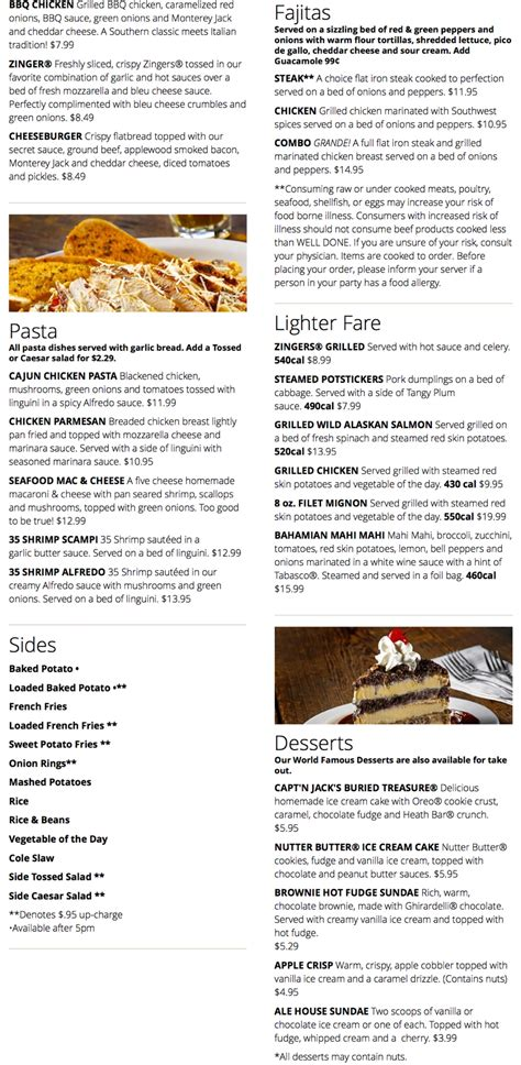 hollywood ale house menu for hollywood ale house 3215 oakwood blvd