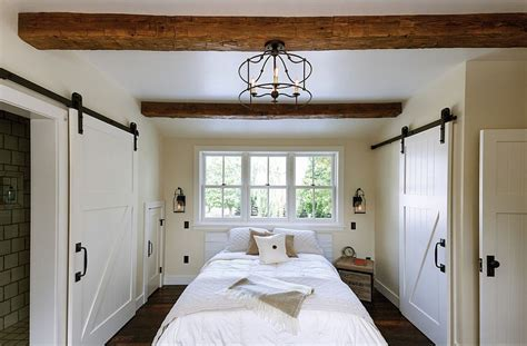 bedroom barn door 25 bedrooms that showcase the beauty of sliding barn doors