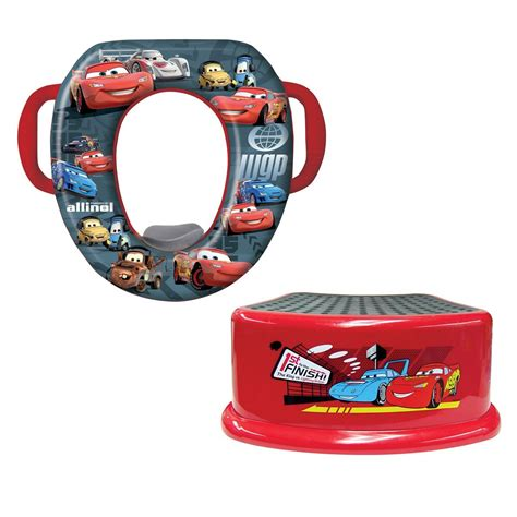 Disney Cars Step Stool by Disney Pixar Cars Soft Potty And Step Stool Combo