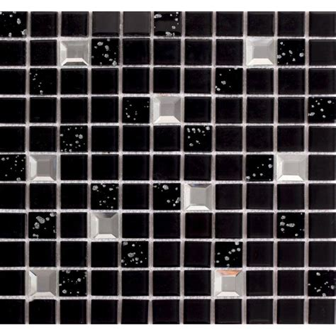 wholesale black glass mosaic tile washroom