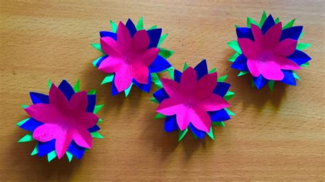 How To Make Arts And Crafts Out Of Paper - three color paper flowers and craft beautiful paper