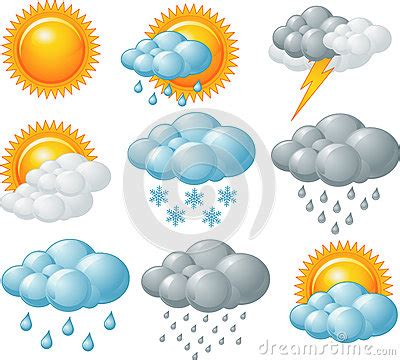 weather icons royalty  stock photo image